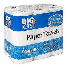 Big Lots® Paper Towels, 6-Big Rolls at Big Lots.