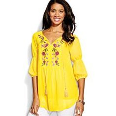 Floral and Butterfly Embroidered Tunic get yours now at Www.youravon.com/ddweck