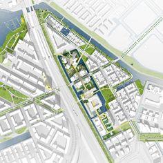 Plan. Masterplan para el Bajes Kwartier por OMA. Imagen cortesía de OMA / FABRICations