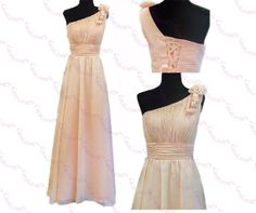 One Shoulder Modest Elegant Plus Size Long Prom by LaceLovers, $124.00