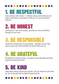 family rules for preschoolers - Google Search