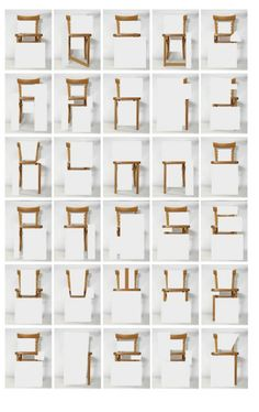 Alphabet made of chairs