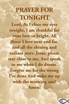 Good Night Prayer, Good Night Blessings, Good Night Quotes, Prayer For Family, Prayer For Today, Daily Prayer, Goodnight Quotes Inspirational, Inspirational Prayers, Good Prayers