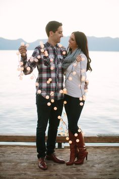 Ok, these two are just the cutest: http://www.stylemepretty.com/little-black-book-blog/2014/12/24/dreamy-lake-tahoe-engagement-session/ | Photography: This Love of Yours - http://thisloveofyours.com/