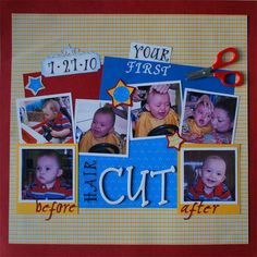 Your First Haircut - Scrapbook.com