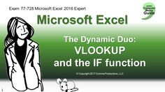The Dynamic Duo Microsoft Office is most effective when the tasks are strung together in a sequence. It is how we process our work: many little steps one after the other. Today's lesson presents the Dynamic Duo: VLOOKUP and the Logical Function IF.  www.thecomputermama.com