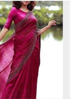 Best 12 Shop Ultra Stylish Designer Sarees Here – SkillOfKing. Trendy Sarees, Stylish Sarees, Fancy Sarees, Kerala Saree Blouse Designs, Saree Blouse Neck Designs, Kerala Engagement Dress, Cutwork Saree, Sarees For Girls, Silk Saree Kanchipuram