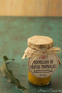 Mermelada mostaza conservar o Chutney Frasco Etiquetas Varios Diseños De Cocina Artesanal