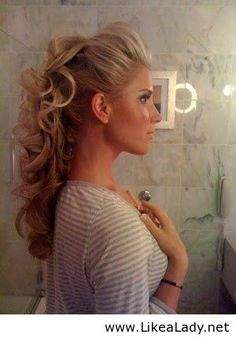Pretty updo for party