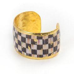 Golden Courtly Check Cuff - Medium