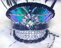 Gypsy Mood Captain's Hat: festival hat, military hat, bohemian, coachella, rave, edc, cap, costume, burning man marching band, galactic, edm
