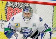 The Comets, who got a solid game in goal from Joacim Eriksson – 28 saves – are 2-1-1-0, all on the road, in the new season. The Comets will open their home season Wednesday when the Adirondack Flames visit Utica Memorial Auditorium.