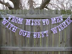 Hey, I found this really awesome Etsy listing at https://www.etsy.com/listing/183266254/from-miss-to-mrs-bridal-shower-banner