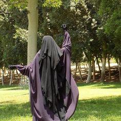 <3 Gorgeous Flowing Purple Jilbab and Extra Long Niqab <3
