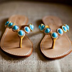 Turquoise Wedding Sandals