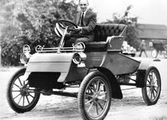 1903 Ford Runabout Model A and Henry Ford