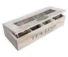 Tea Box Wood Tea Box Tea Storage Organizer by WoodsOfNarnia