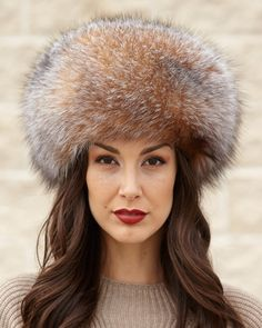 4a46381070d Crystal Fox All Fur Zhivago Pill Box Fur Hat. Made with the finest ranch  raised