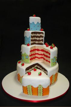 Celebration Cake By veragatafera - http://www.verafigueredo.com.br - (cakecentral)