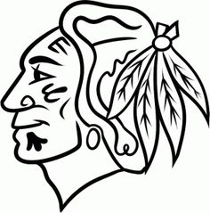 Blackhawks Chicago Hockey Free Coloring Pictures pages