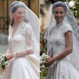 """Pippa Middleton married James Matthews in Berkshire, UK, on the Saturday, and naturally, one of the esteemed guests was her older sister, Kate. While the duchess opted out of a tradition matron of honor role - reports said she didn't want to """"upstage her sister"""" on the big day - she did fulfill   #POPSUGAR Celebrity"""