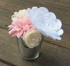 Felt Flower Arrangement Floral Gift Centerpiece Wedding by ArtFel