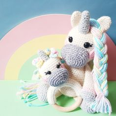 Crochet Doll Pattern, Easy Crochet Patterns, Crochet Patterns Amigurumi, Doll Patterns, Crochet Baby Toys, Crochet Animals, Knit Crochet, Crochet Unicorn, Baby Rattle
