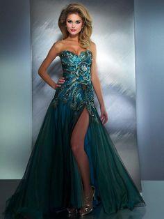 Peacock dress!