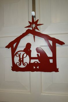 Hey, I found this really awesome Etsy listing at https://www.etsy.com/listing/212034088/24-metal-nativity-scene-door-hanger