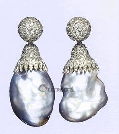 pendientes hechos con perlas barrocas