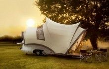 Simplemente: espectacular!  Ir de camping o caravaning será otra cosa.  Tiny Camper-Trailer Converts into Huge Mobile Motorhome   Designs & Ideas on Dornob