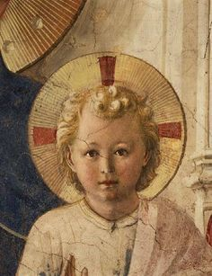 Fra Angelico ~ Detail of the Christ Child from the Madonna delle Ombre (Madonna of the Shadows), c.1450