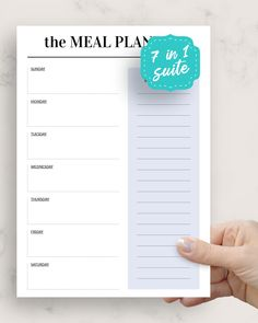Meal Plan Weekly is perfect for those who prefer minimalistic design and usability. This collection is full of ready-made professionally-designed templates. You can download in PDF format in A4, A5, letter size and half letter size or use with Goodnotes, Notability, Xodo and Noteshelf for your iPad or Android tablet.
