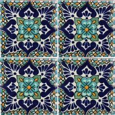 2 Talavera Mexican Tile Polanco 2 Talavera Mexican Tile-- Can I simplify this design for painting a chair rail height strip upstairs?Polanco 2 Talavera Mexican Tile-- Can I simplify this design for painting a chair rail height strip upstairs? Tile Art, Mosaic Tiles, Tiling, Mexican Ceramics, Mexican Art, Mexican Tiles, Talavera Pottery, Design Blog, Decorative Tile