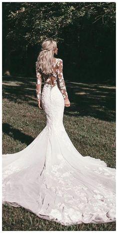 Petite Wedding Guest Dresses, Wedding Dress Black, Lace Wedding Dress With Sleeves, Cute Wedding Dress, Wedding Dresses 2018, Country Wedding Dresses, Long Sleeve Wedding, Wedding Dress Styles, Bridal Dresses