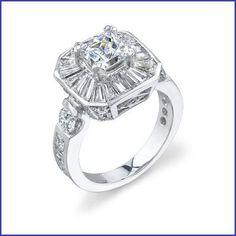Gregorio 18K WG Diamond Engagement Ring R-394