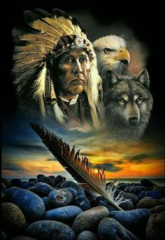 48 Ideas Tattoo Wolf Indian Native Americans Two Wolves For 2019 - melon Native American Drawing, Native American Wolf, Native American Paintings, Native American Pictures, Native American Wisdom, Indian Pictures, Native American Artists, American Spirit, American Indian Art