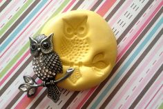 Branch Owl Flexible Silicone mold/ Mould by MoldsSweetTreasure, $5.99