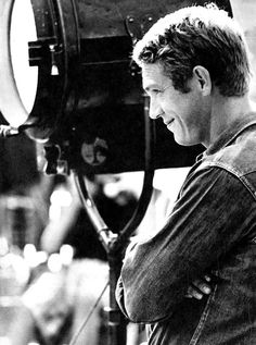 Steve McQueen on the set of Baby, The Rain Must Fall, 1964.