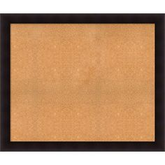 Framed Cork Board, Choose Your Custom Size, Portico Espresso Wood (40 x 32-inch), Brown