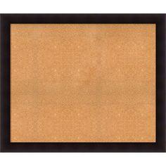 Framed Cork Board, Choose Your Custom Size, Portico Espresso Wood (66 x 34-inch), Brown