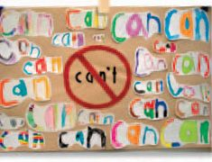 "Grades K-1: First-Day Projects We are ""can-do""ers! Great first week project for after school. Pair with a growth mindset story?"