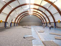 L'inizio dei lavori di #posa di un nuovo #parquet sportivo Dalla Riva Sportfloors
