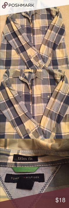Tommy Hilfiger men's stripe shirt Great condition Tommy Hilfiger button down shirt Tommy Hilfiger Shirts Casual Button Down Shirts