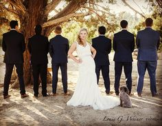 Yvonne and the Groomsmen and her dog at wedding at Jackrabbit Ranch. Wonderful and so laid back, much fun was had by all, including me. Cheers you two, Louis more to come. #wedding #weddingwarriors #jackrabbitranch #bigbearwedding #louisgweinerphotography #mountainwedding #greenweddingshoes #bigbearphotographer #redlandsphotographer #redlands #weddingwire #theknott #weddingwarrior #locationphotography #petphotography