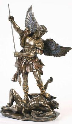 St Michael vanquishes Lucifer.