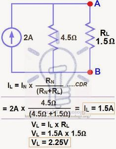 Finding the Load Current and Load Voltage through Norton's Theorem Engineering Technology, Electronic Engineering, Electrical Engineering, Medical Technology, Energy Technology, Electronic Circuit Projects, Electronics Projects, Circuit Theory, Science Electricity