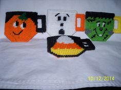 Plastic Canvas Halloween Teacup Treat Bags by twobrotherscraft