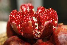 Granaatappel Open, Kernen, Fruit