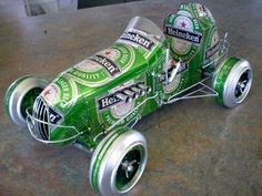 Just a Car Guy: Well crafted beer can art